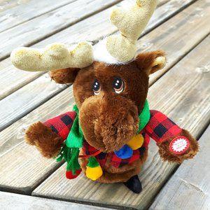 Singing Moose Plush with Plastic Base
